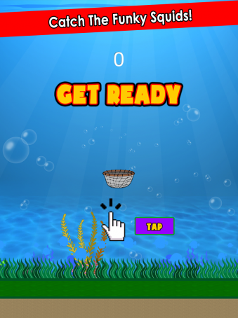 Catch Funky Squid - ipad