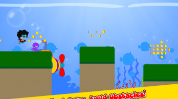 Funky Squid Goes Running - android_tablet4