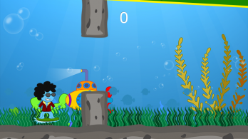 Funky Squid Goes Jumping - android_tablet4