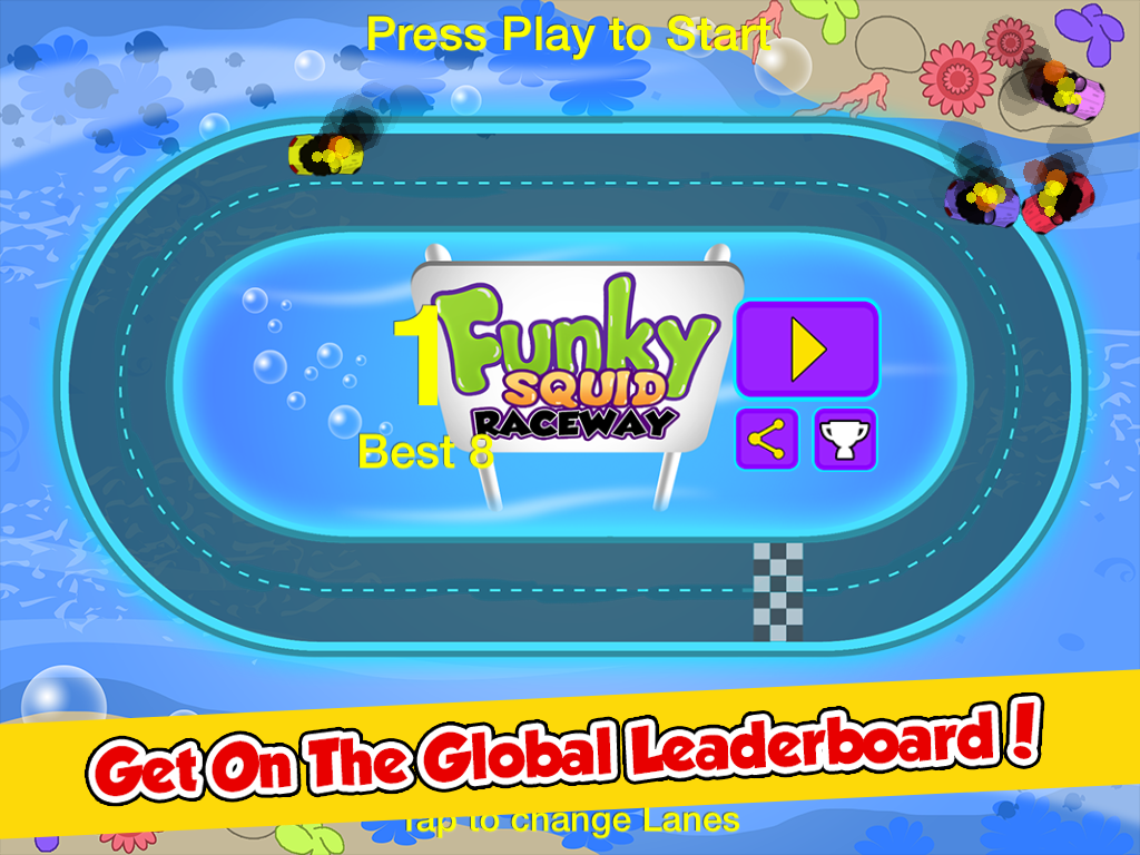 Funky Squid Goes Racing - ipad