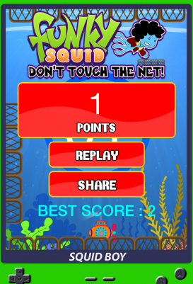 Funky Squid Don't Touch The Net - android_tablet4