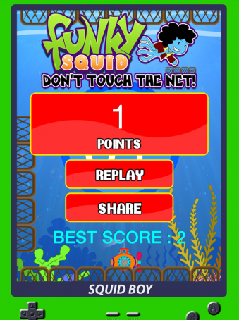 Funky Squid Don't Touch The Net - ipad