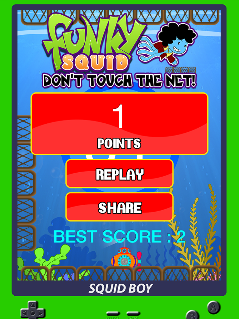 Funky Squid Don't Touch The Net - ipad2