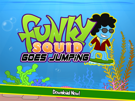 Funky Squid Goes Jumping - ipad