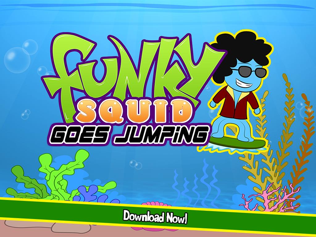 Funky Squid Goes Jumping - ipad2