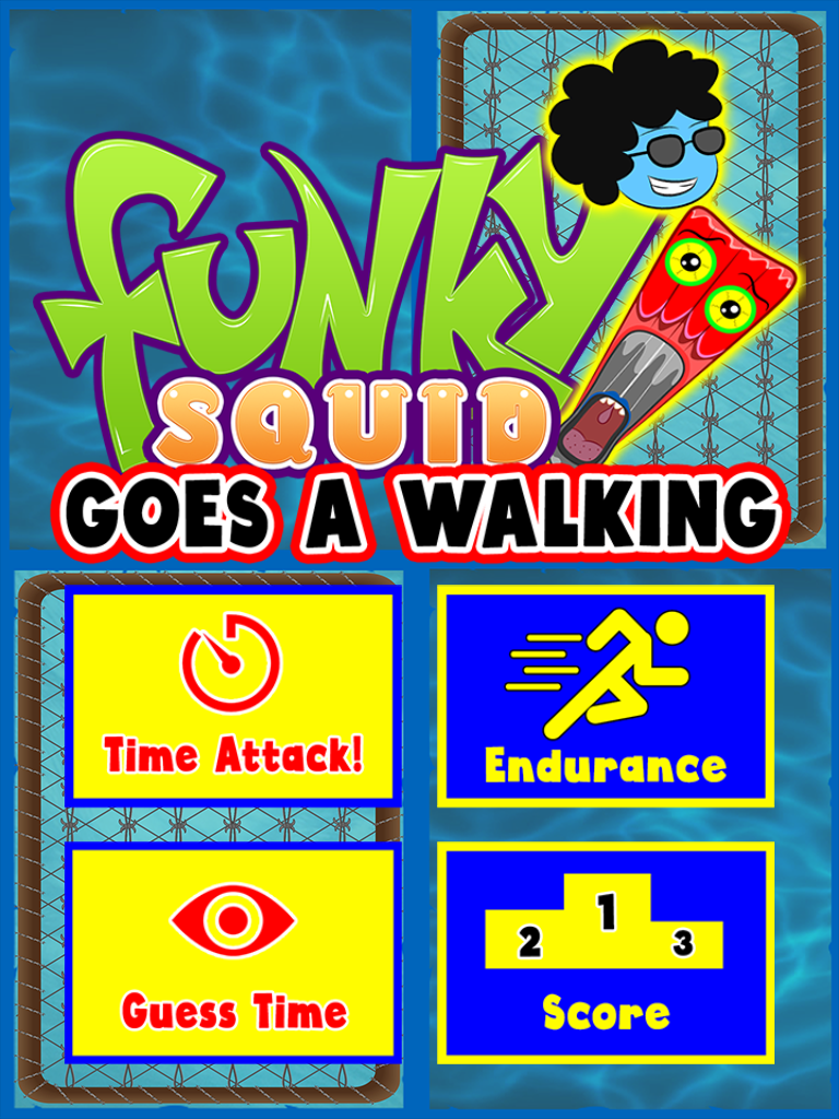 Funky Squid Goes A Walking - ipad