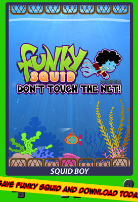 Funky Squid Don't Touch The Net - android_tablet6