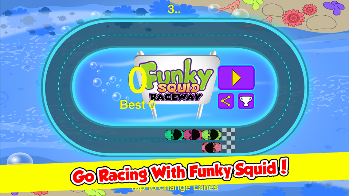 Funky Squid Goes Racing - iphone1