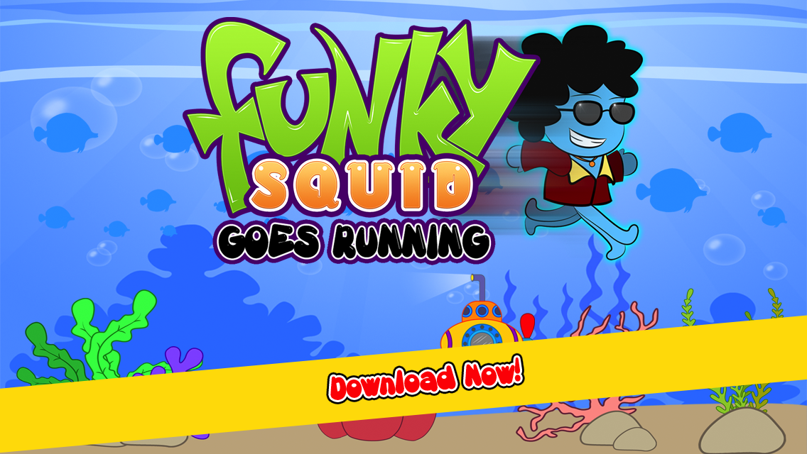 Funky Squid Goes Running - iphone1