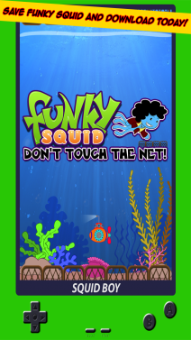 Funky Squid Don't Touch The Net - iphone1